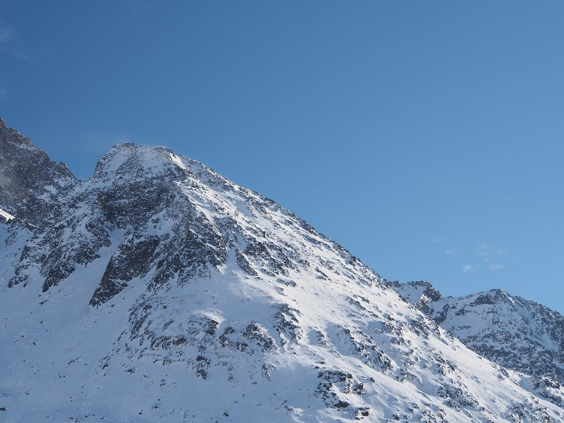 One profile of one Alpine mountain