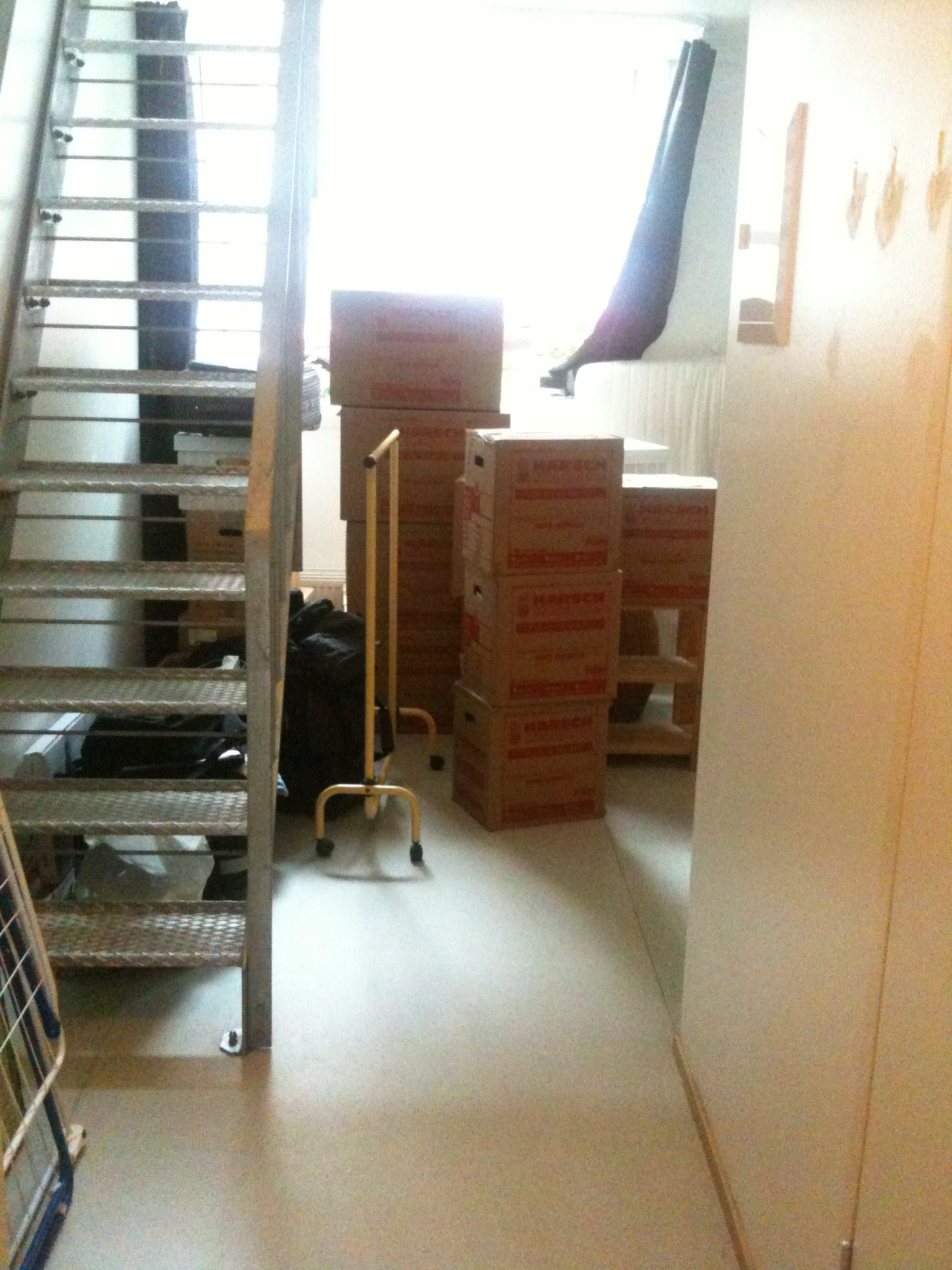 Boxes in empty flat
